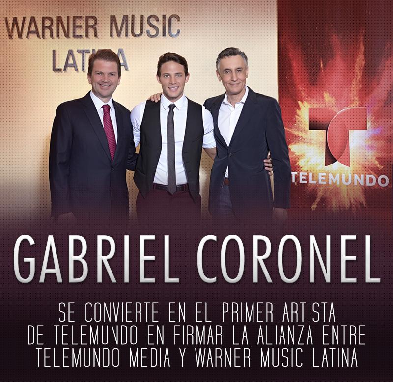 GABRIEL CORONEL SE CONVIERTE EN EL PRIMER ARTISTA DE